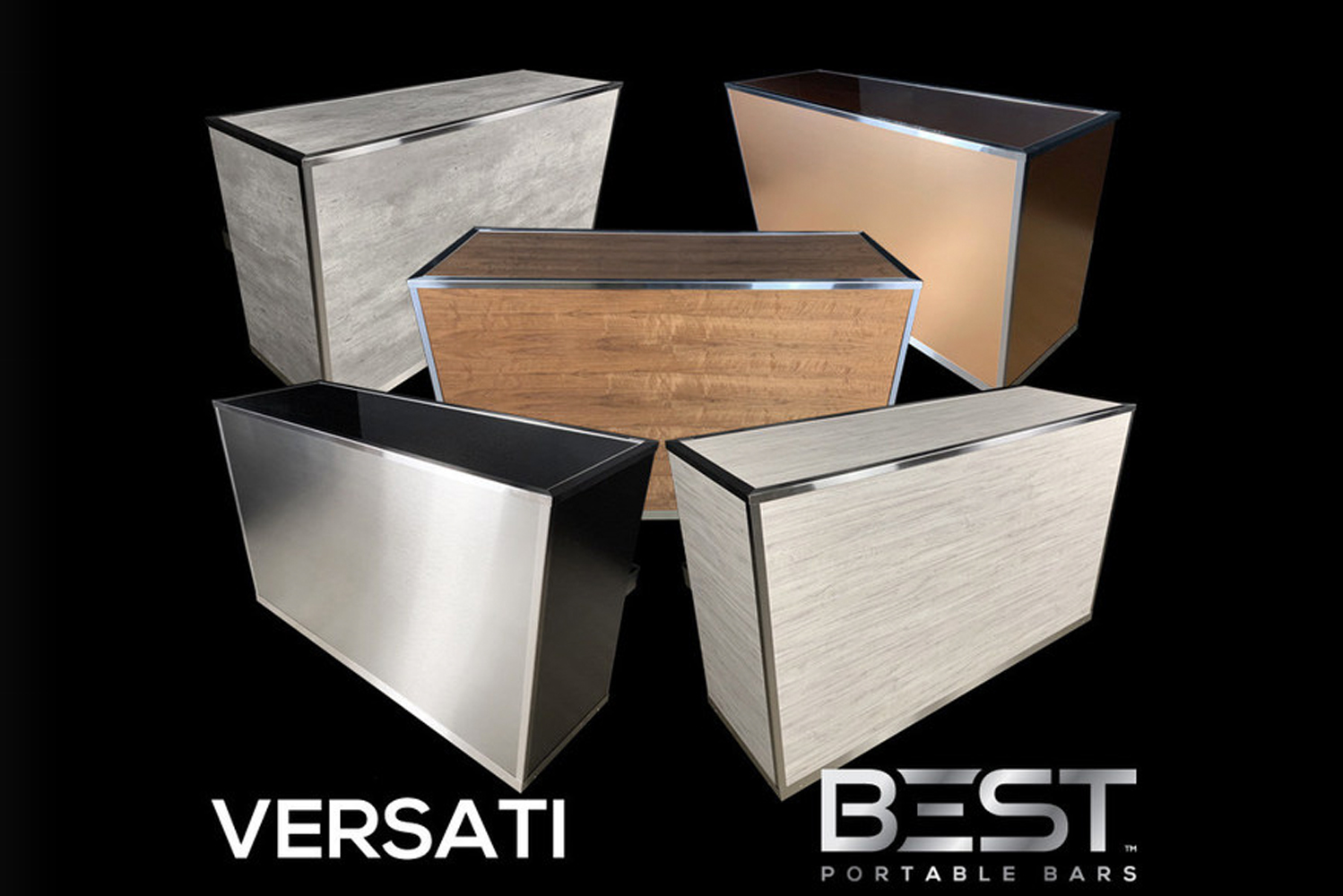 Montreal-based Best Portable Bars released its newest model, the Versati portable bar designed for events, hotels, rental companies or luxury homes.