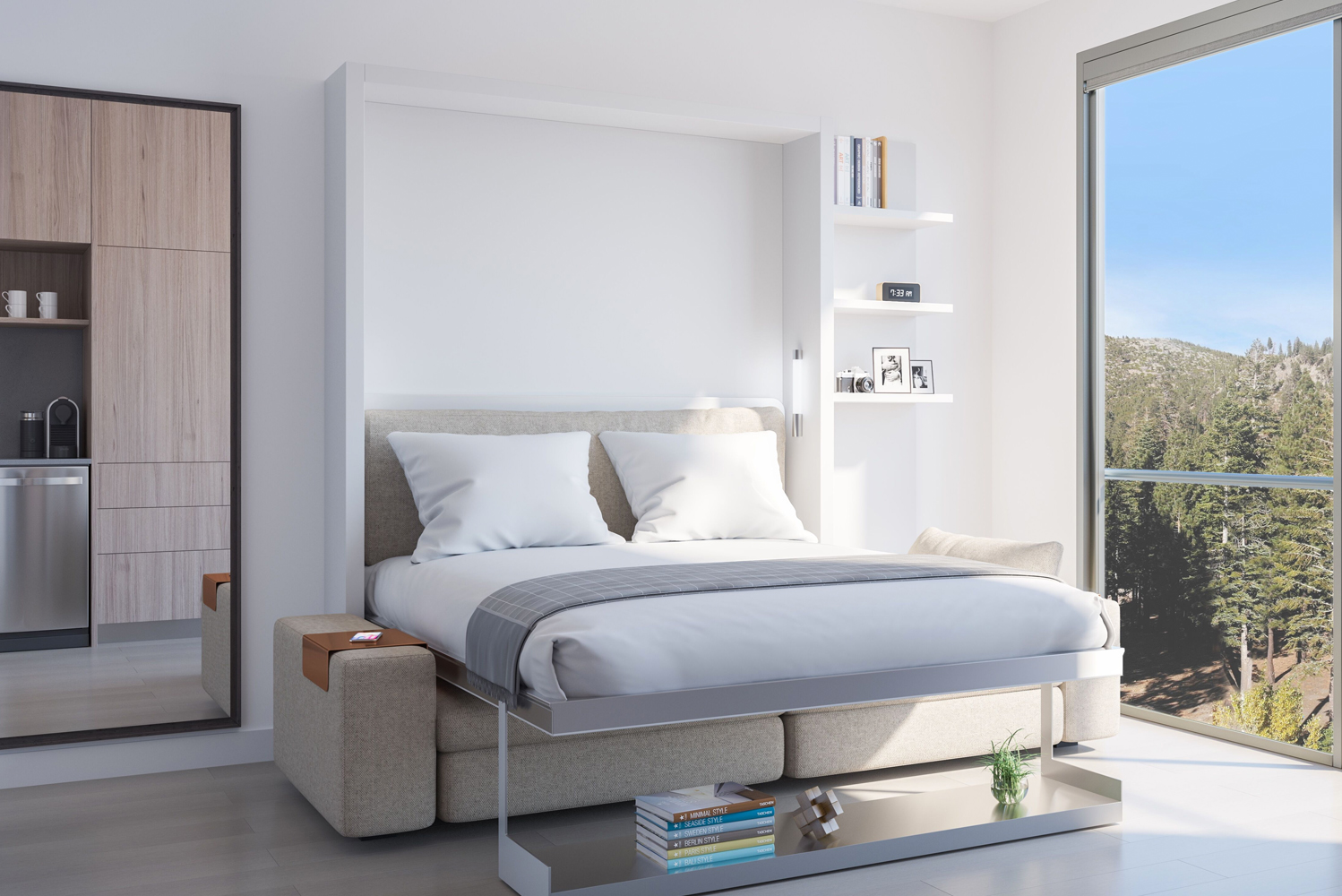 YotelPad Mammoth will have 156 PADs with flexible and adaptable spaces, ranging from 410 square feet to 629 square feet.