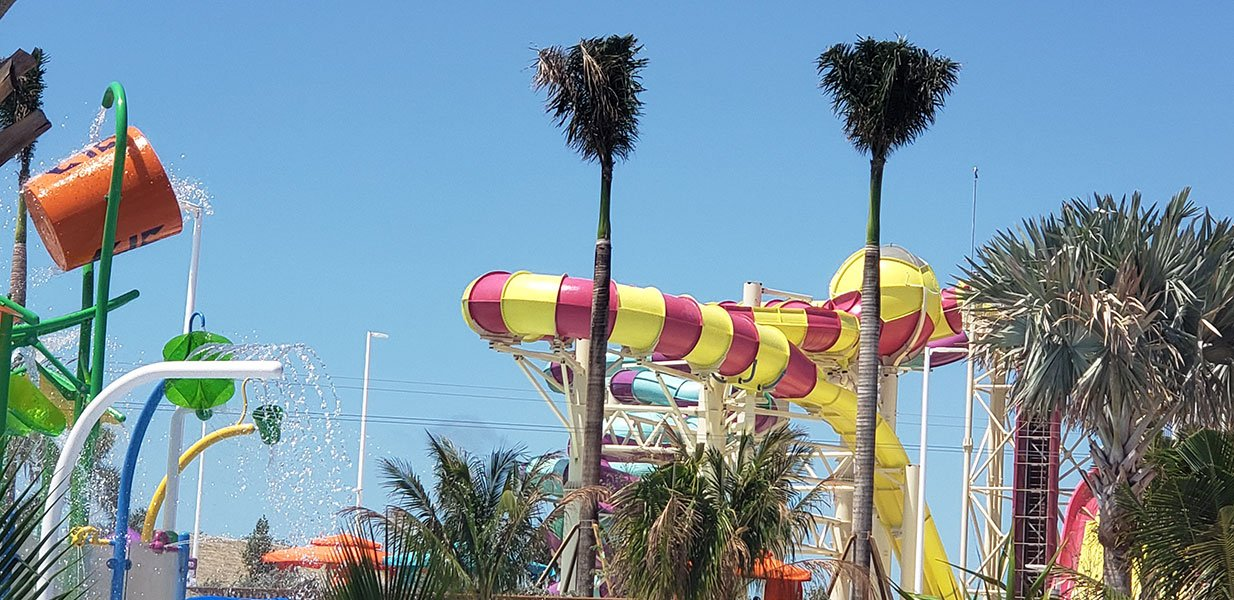 The island's Thrill Waterpark // Photo copyright by Susan J. Young