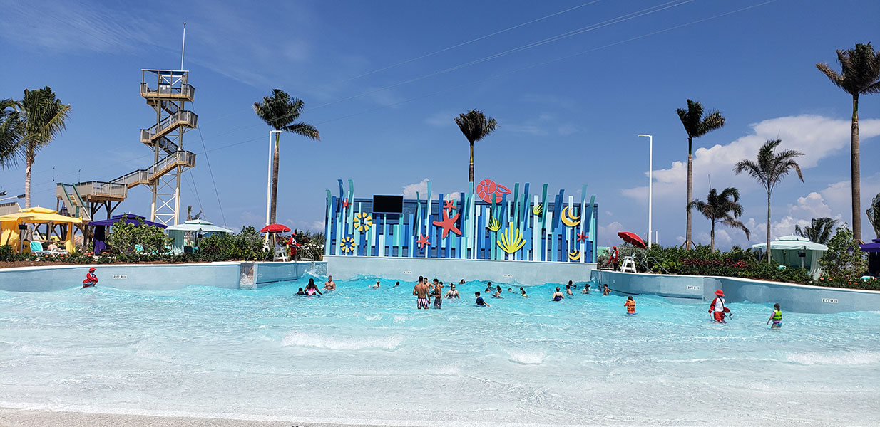 The island's zero-entry Wave Pool // Photo copyright by Susan J. Young