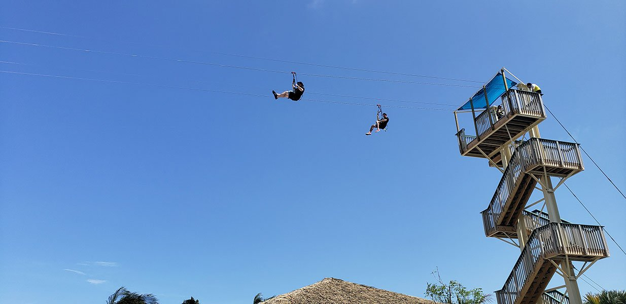 The island's zipline // Photo copyright by Susan J. Young