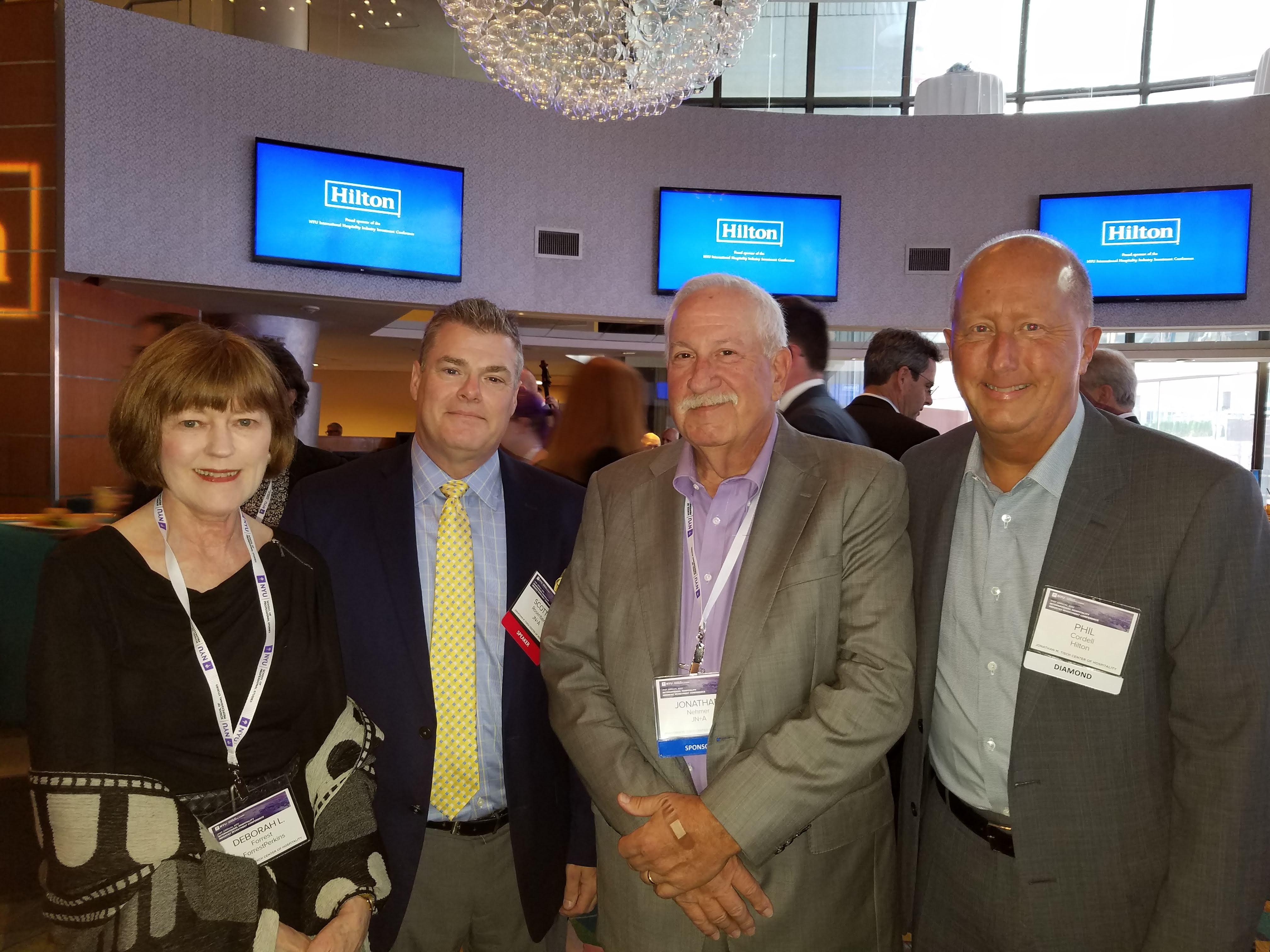 From left: Deborah L. Forrest, founder of ForrestPerkins; Scott Rosenberg, president of Jonathan Nehmer + Associates, Inc. (JN+A); Jonathan Nehmer, chairman and founder of JN+A; and Phil Cordell, global head of new brand development, Hilton