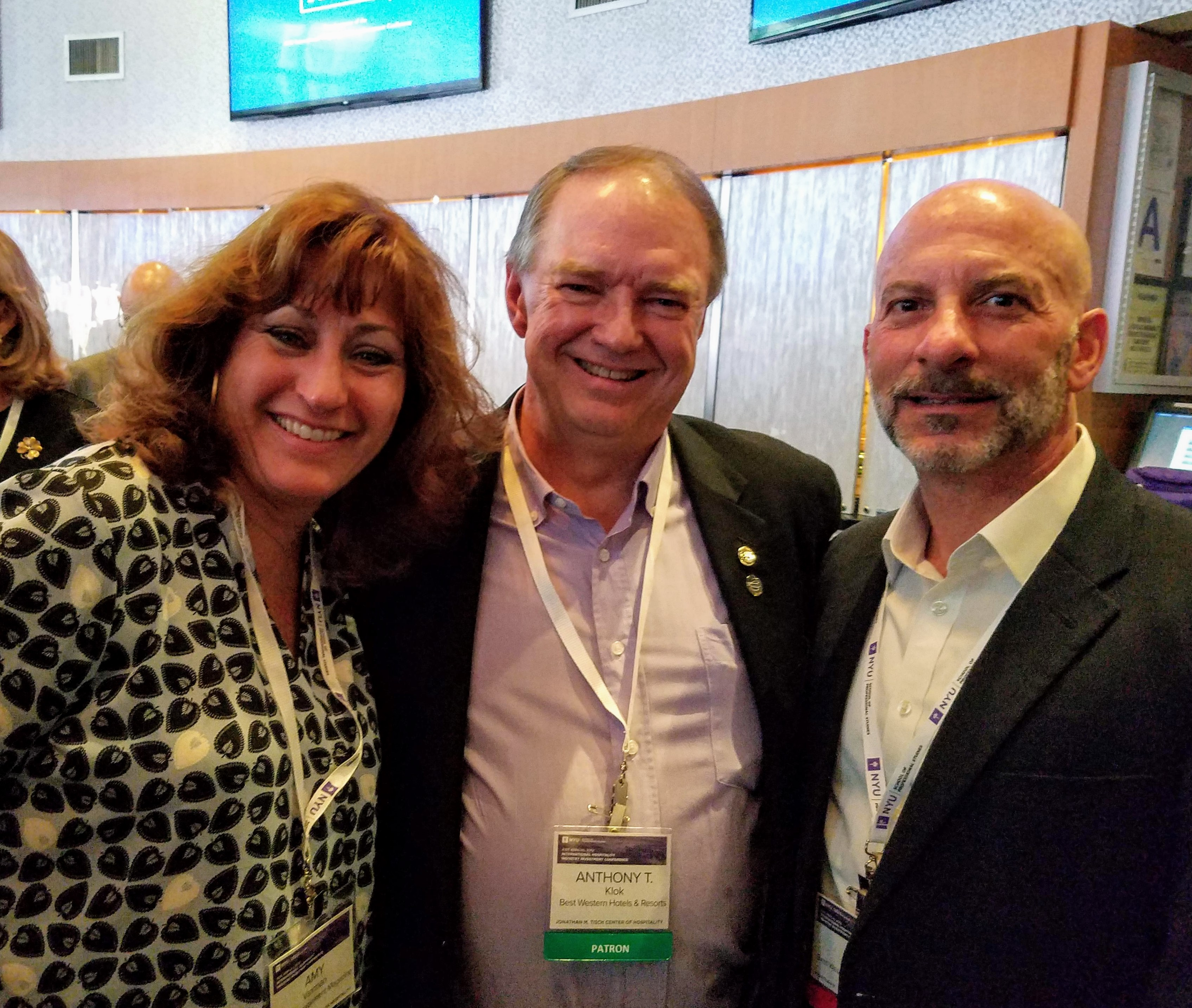From left: Amy Vaxman, group publisher of Hotel Management; Anthony Klok, board chairman for Best Western, and Ron Pohl, SVP/COO for Best Western Hotels & Resorts