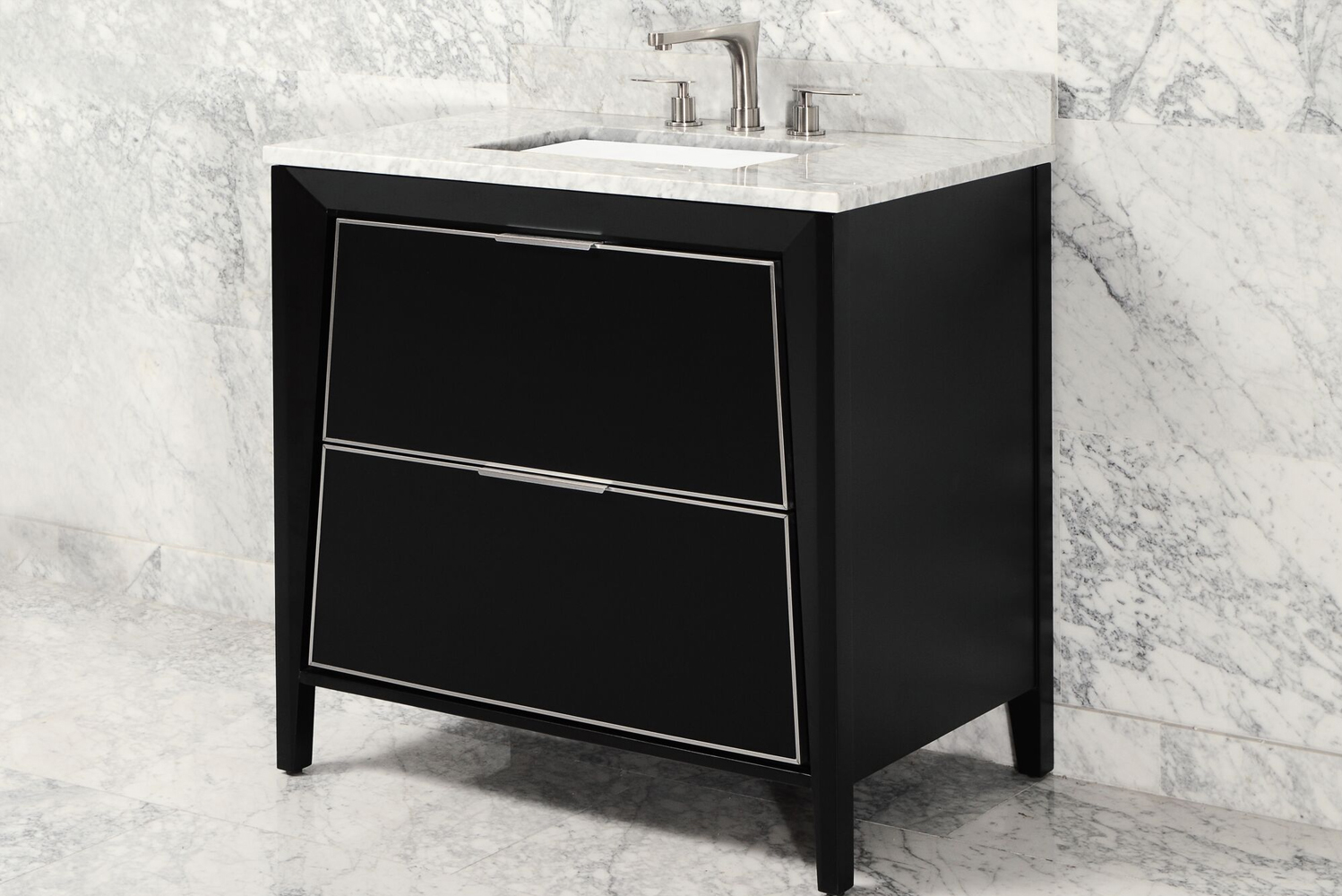The minimalist Canto vanity is notable for its angled profile.