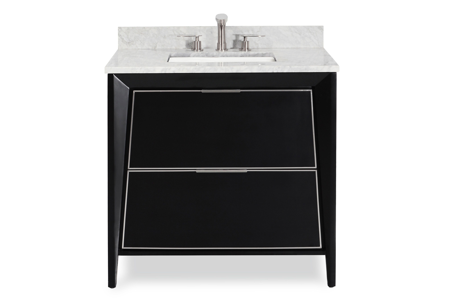 This furniture-style vanity is crafted of solid wood throughout with no MDF or chipboard.