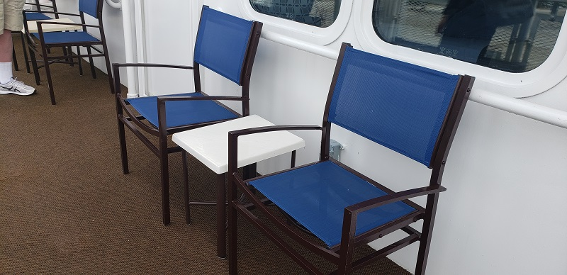 Chairs outside 4th Deck Accommodations