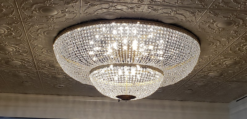 Chandelier in Compass Lounge