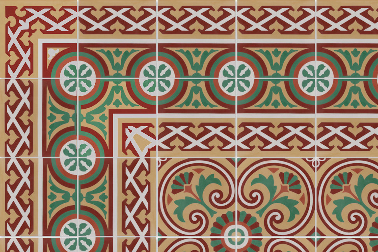 The cement tile collection is also available in any of Villa Lagoon Tile's 85 standard colors.