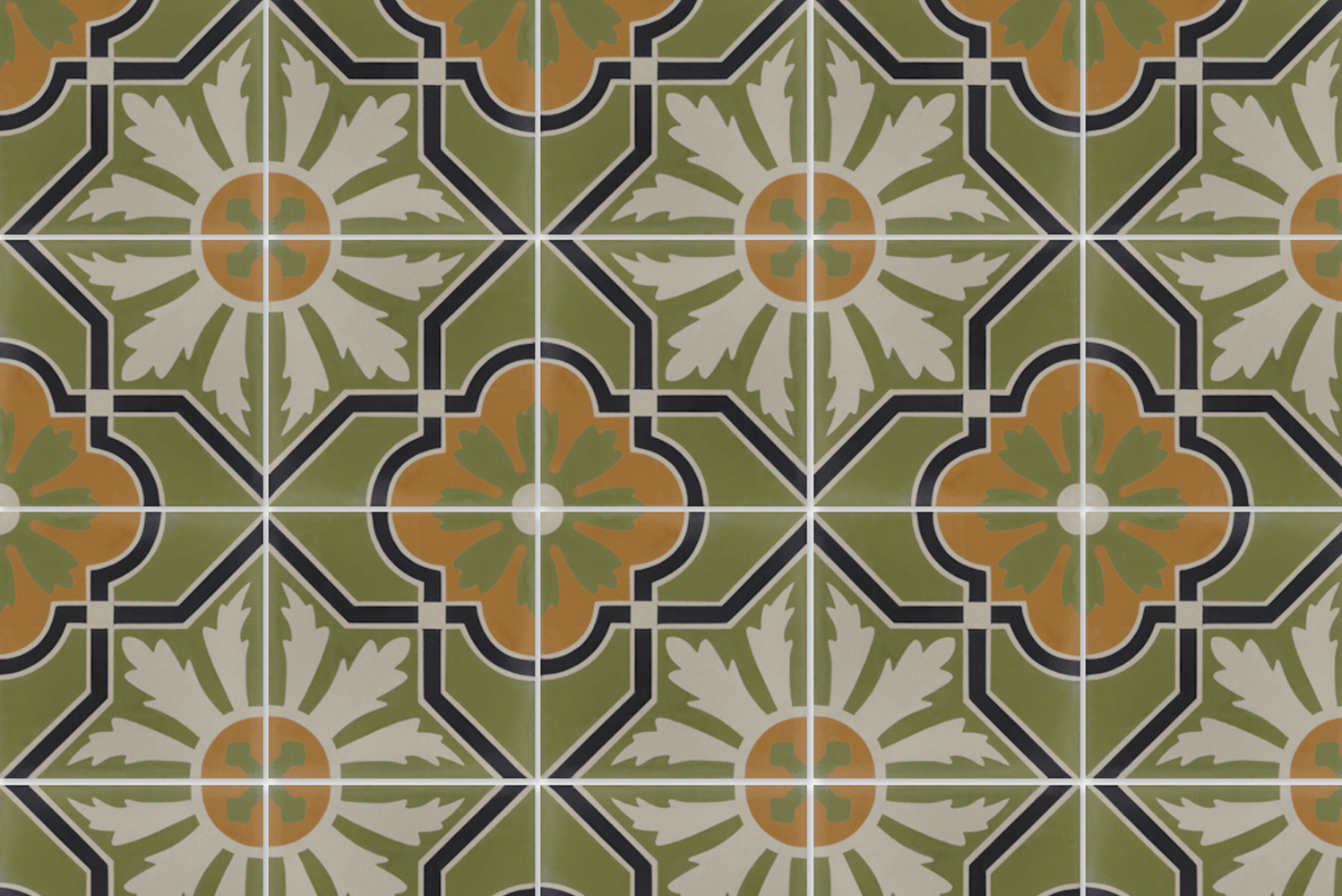 Similar to natural stone, each cement tile is unique with slight color variations, the sign of an artisan-made product.