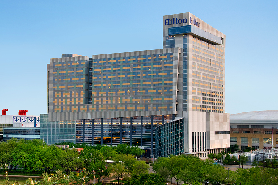 Connected to the George R. Brown Convention Center via sky bridges on two levels, Hilton Americas-Houston has 1,207 guestrooms and 91,500 square feet of flexible meeting space.