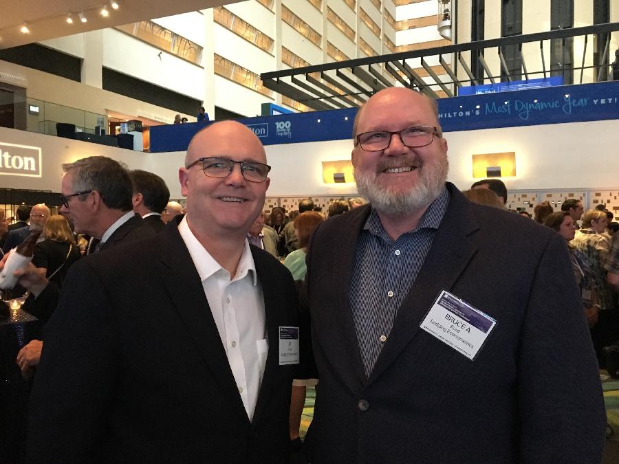 Lodging Econometrics' SVP/Director of Business Development JP Ford and SVP/Director of Global Business Development Bruce Ford