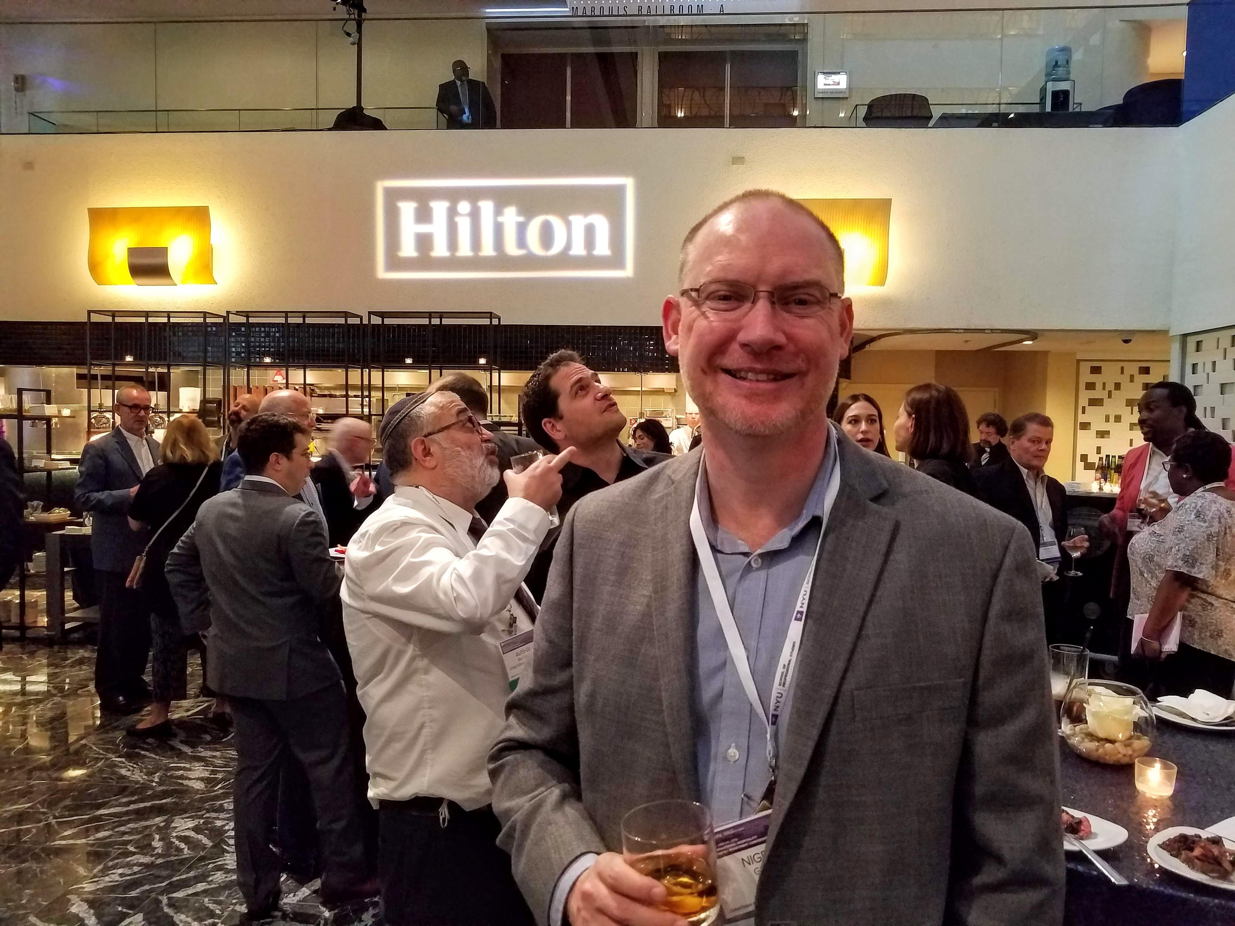 Nigel Glennie, VP of corporate communications for Hilton