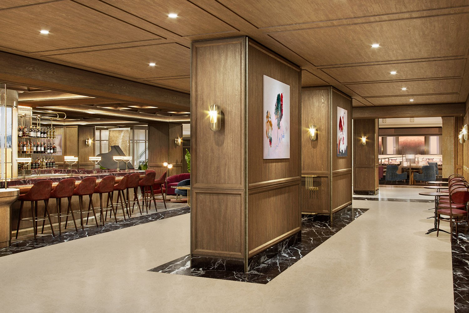 Steps away from the lobby space is the hotel's new dining venue, Reign.