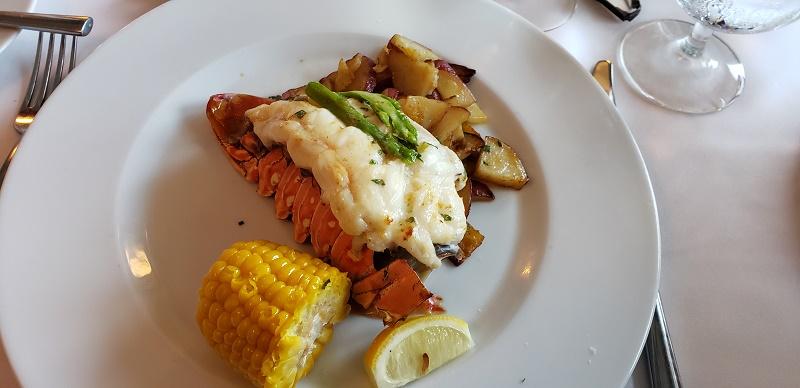 Lobster entree in Coastal Dining Room