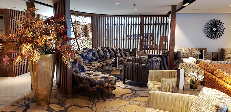 Rich fabrics and eclectic decor in AmaMagna's Lounge