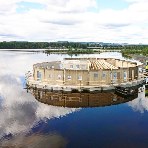 The circular-shaped Arctic Bath will have one spa treatment room, four saunas, an outside cold bath, a hot bath, outdoor and indoor showers, and two dressing rooms