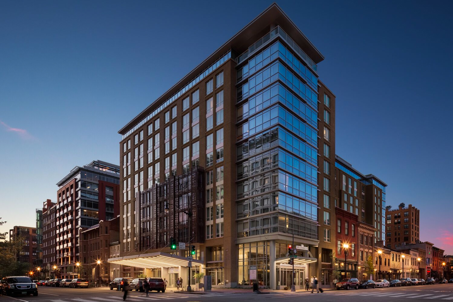 The project is located adjacent to DC's Walter E. Washington Convention Center and Marriott Marquis Convention Hotel.