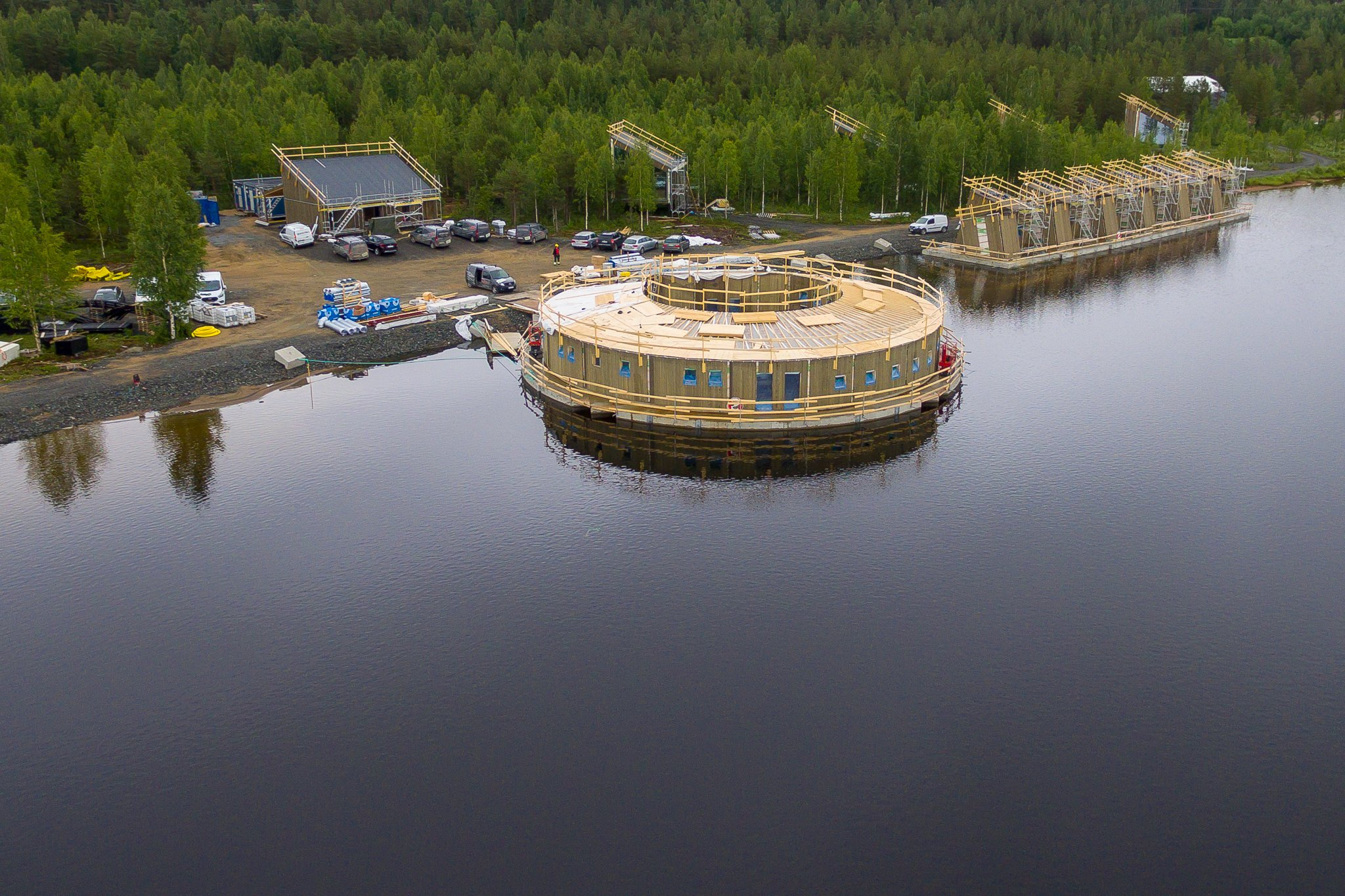 The Arctic Bath Hotel and Spa is under construction and slated to open in February 2020.