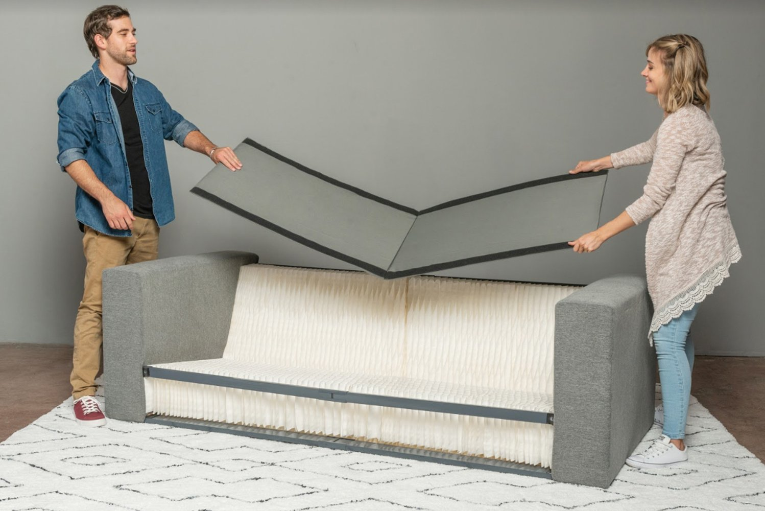 Using honeycomb technology found in the aviation and aerospace industries, Elephant in a Box is unlike any other sofa in the market.