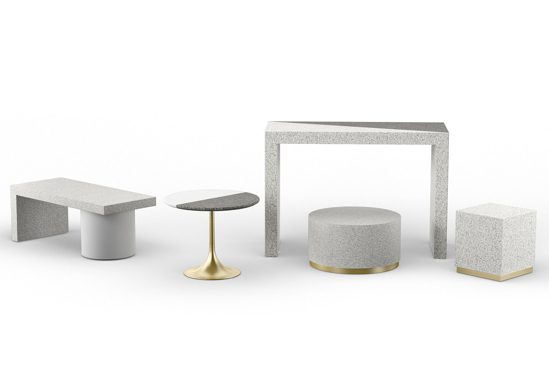 Futrus Solutions with Corian Design debuted the Vivo Terrazzo furniture collection.