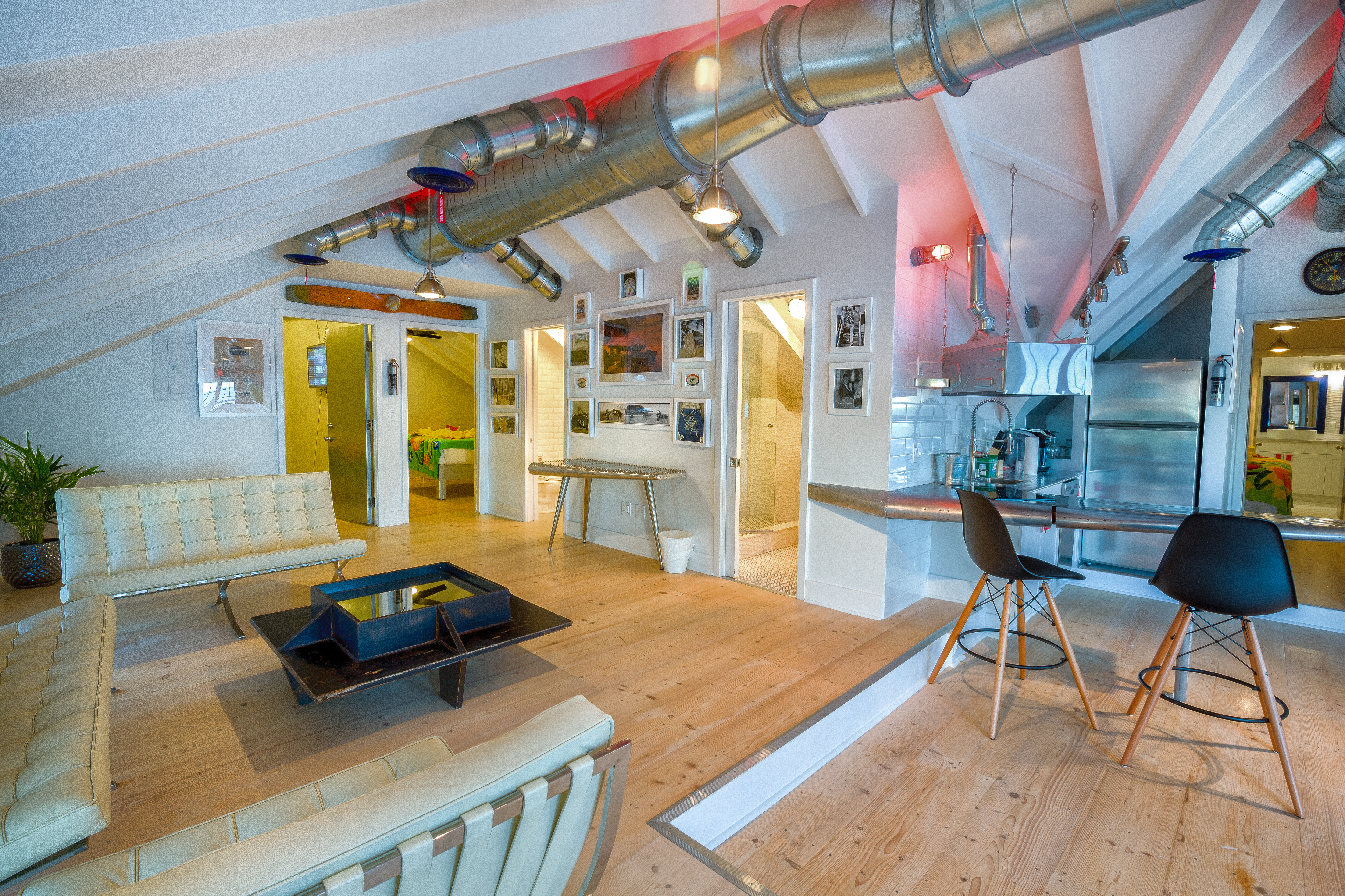 Designed to look like the early Pan Am Clipper Ships, the suite measures nearly 1,800 square feet.