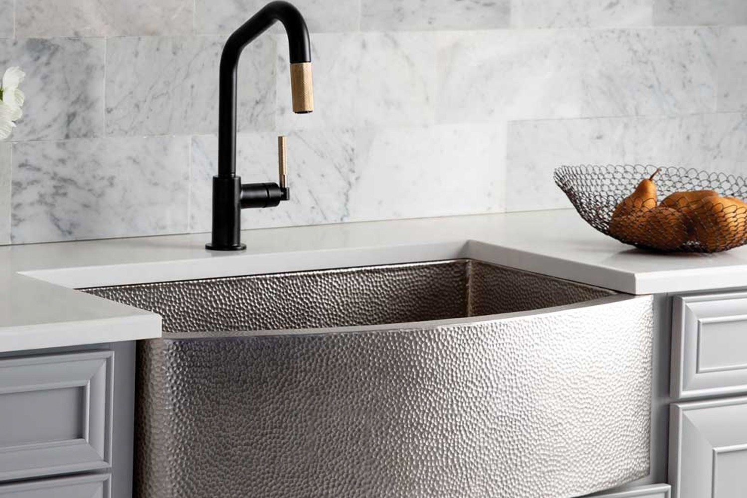 Introducing the new Rhapsody sink from Native Trails, said to be an artistic twist on the traditional farmhouse style.