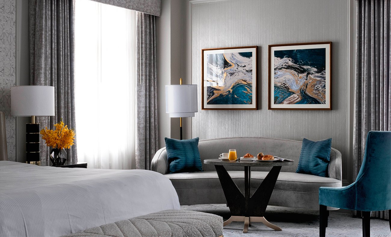 ForrestPerkins renovated four suites and 613 guestrooms in the Westin St. Francis, located in San Francisco's Union Square.