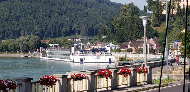 AmaMagna docked in Grein, Austria