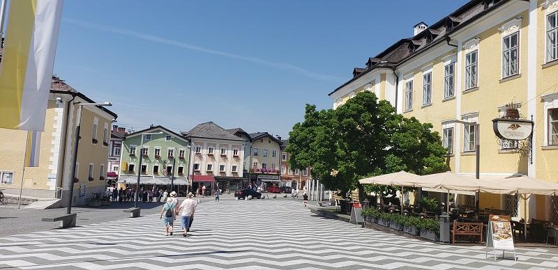 Square in Mondsee, Austria in the Lake District