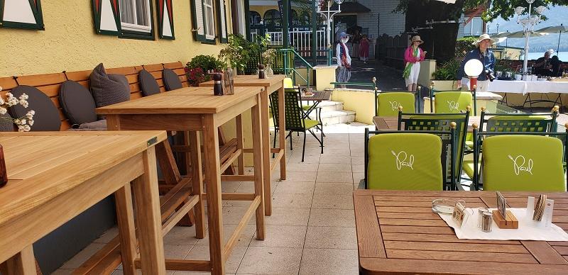Lakeside Paul der Wirt restaurant in St. Wolfgang, Austria