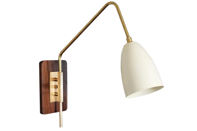 Custom lighting design studio Blueprint Lighting launched the Elska wall mount reading lamp.