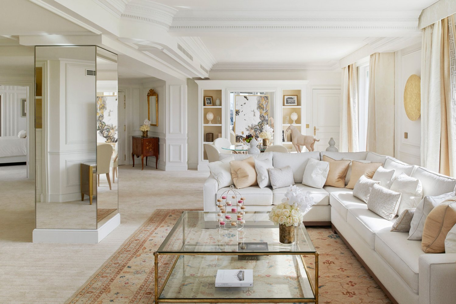 Involved in the design of the suites was French interior designer Pierre-Yves Rochon.