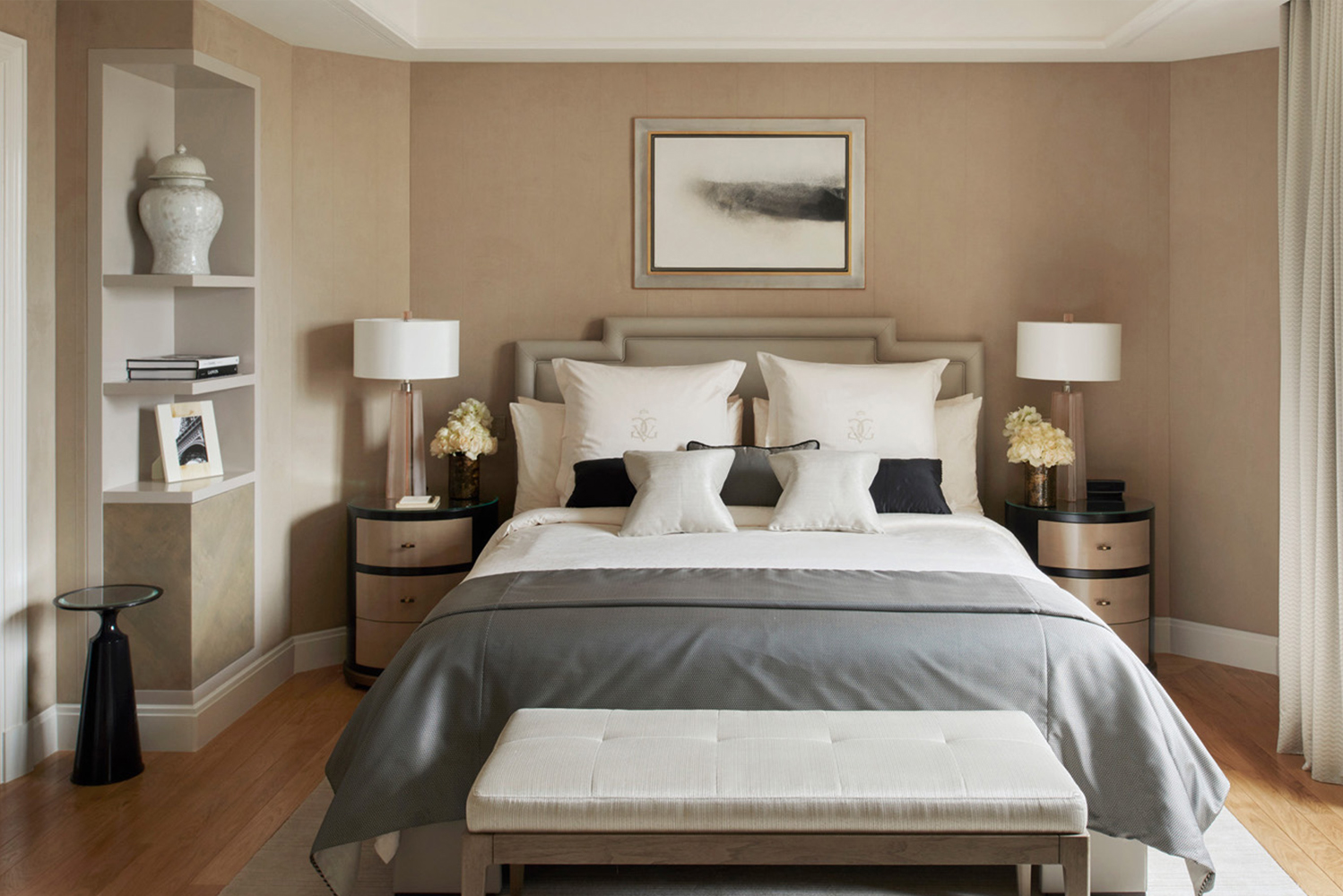 The design team created a design scheme that blends with the hotel's existing elegant décor.