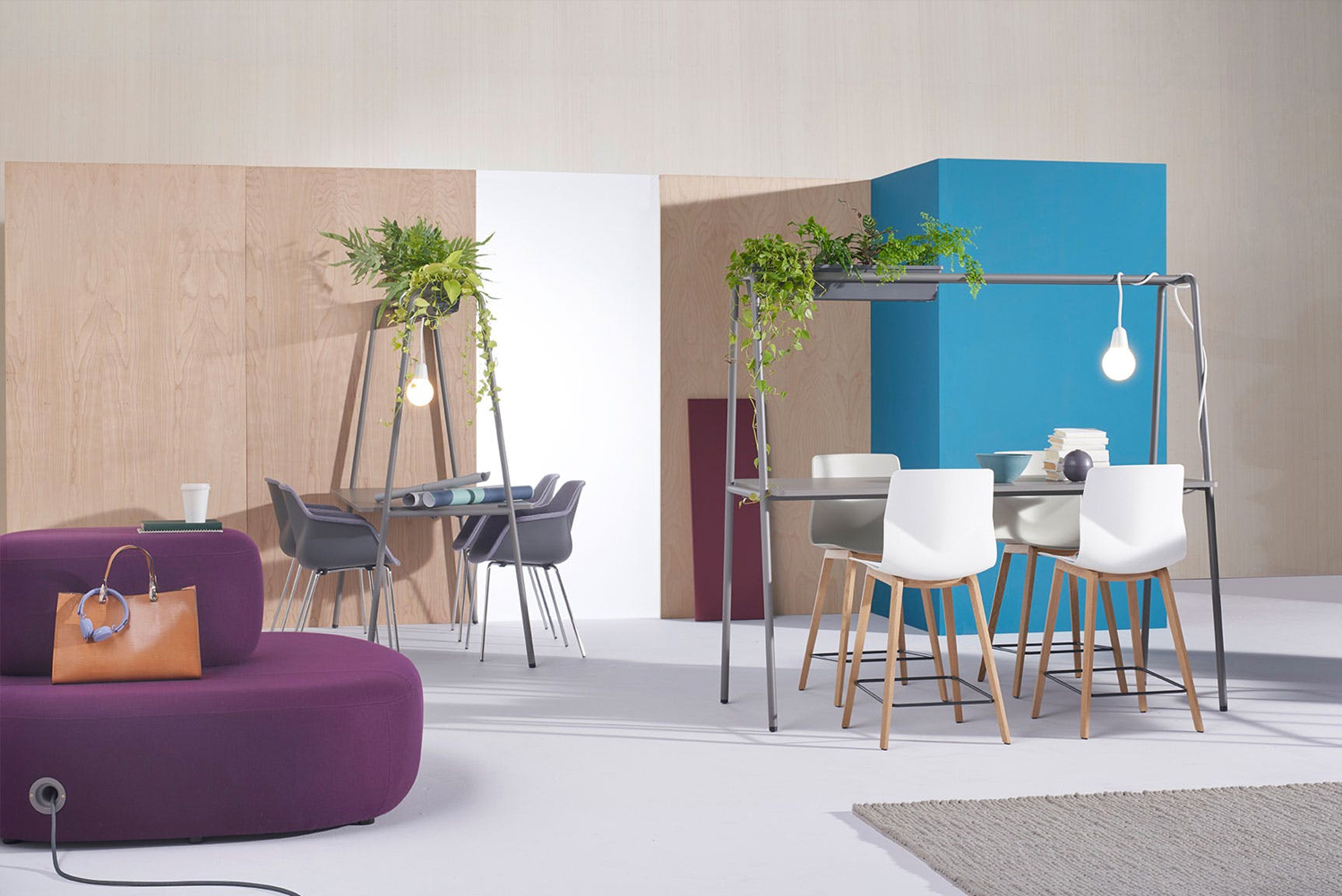 Hightower introduced its latest space-making offering, FourReal A, a sturdy framed table that creates opportunities for multiple types of gathering.