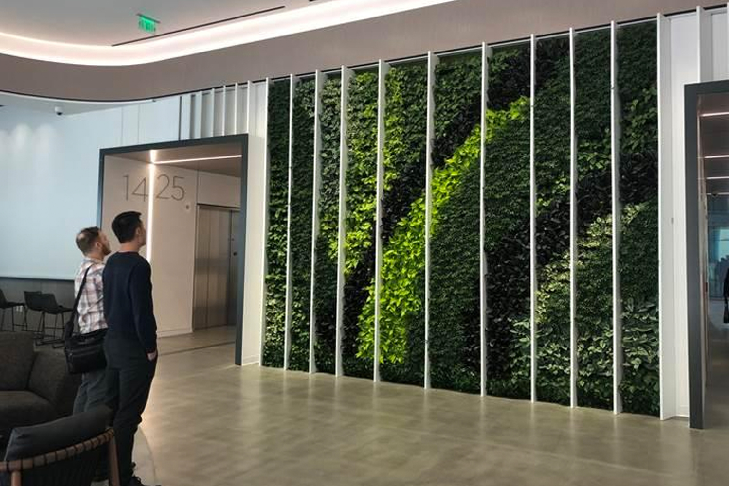 GSky Plant Systems Inc., which designs and produces interior and exterior green walls, installed the 500th Versa Wall indoor green wall system.