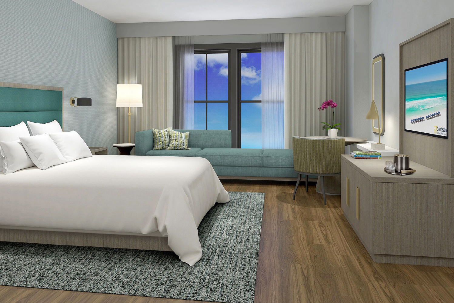 Design Continuum, an interior design firm, worked with Sara Becnel to conceive the interiors for Hotel Effie.