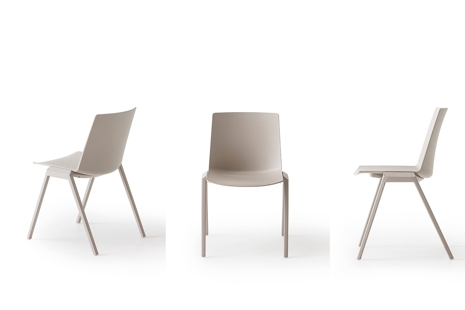 Joule is a Techno polymer chair with a co-injected metal frame.