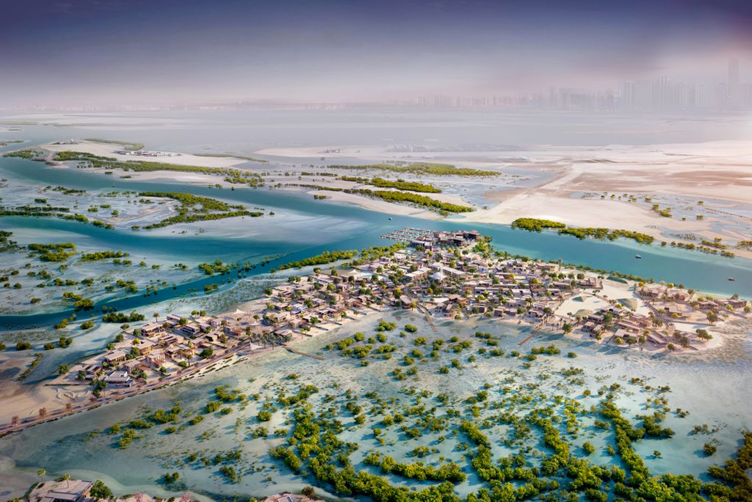 Masterplanned by Broadway Malyan, Jubail will be designed to integrate with the existing natural habitat of the island, including the coastal mangroves.