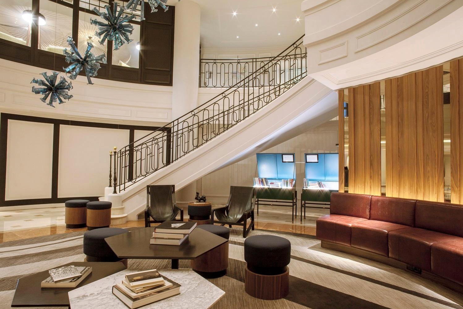 The renovation involved a partial renovation of the lobby, repositioning the existing executive lounge, and creating a restaurant.