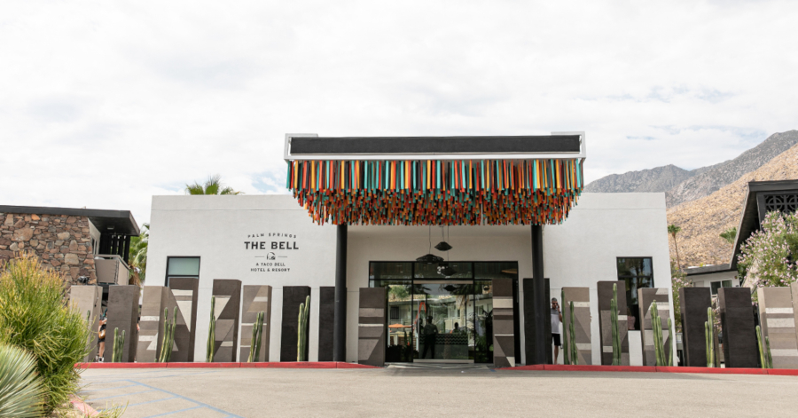 The Bell: A Taco Bell Hotel & Resort took over the V Palm Springs in California.