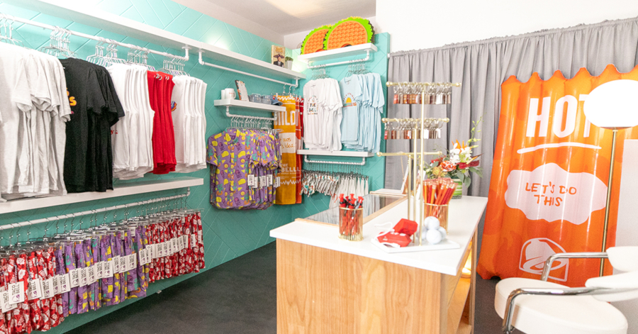 The Bell: A Taco Bell Hotel & Resort's gift shop sold a variety of Taco Bell merchandise.