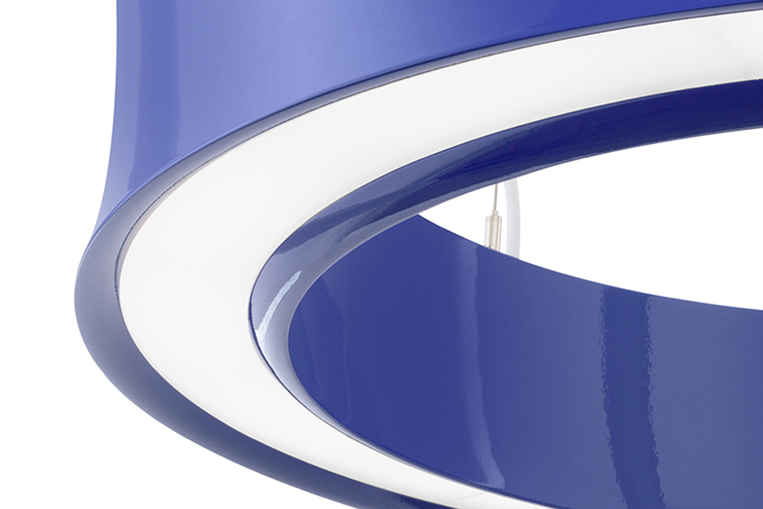 Modeled after the form of the classic hula hoop, Hula is defined by twin curvy, rolled extrusions.