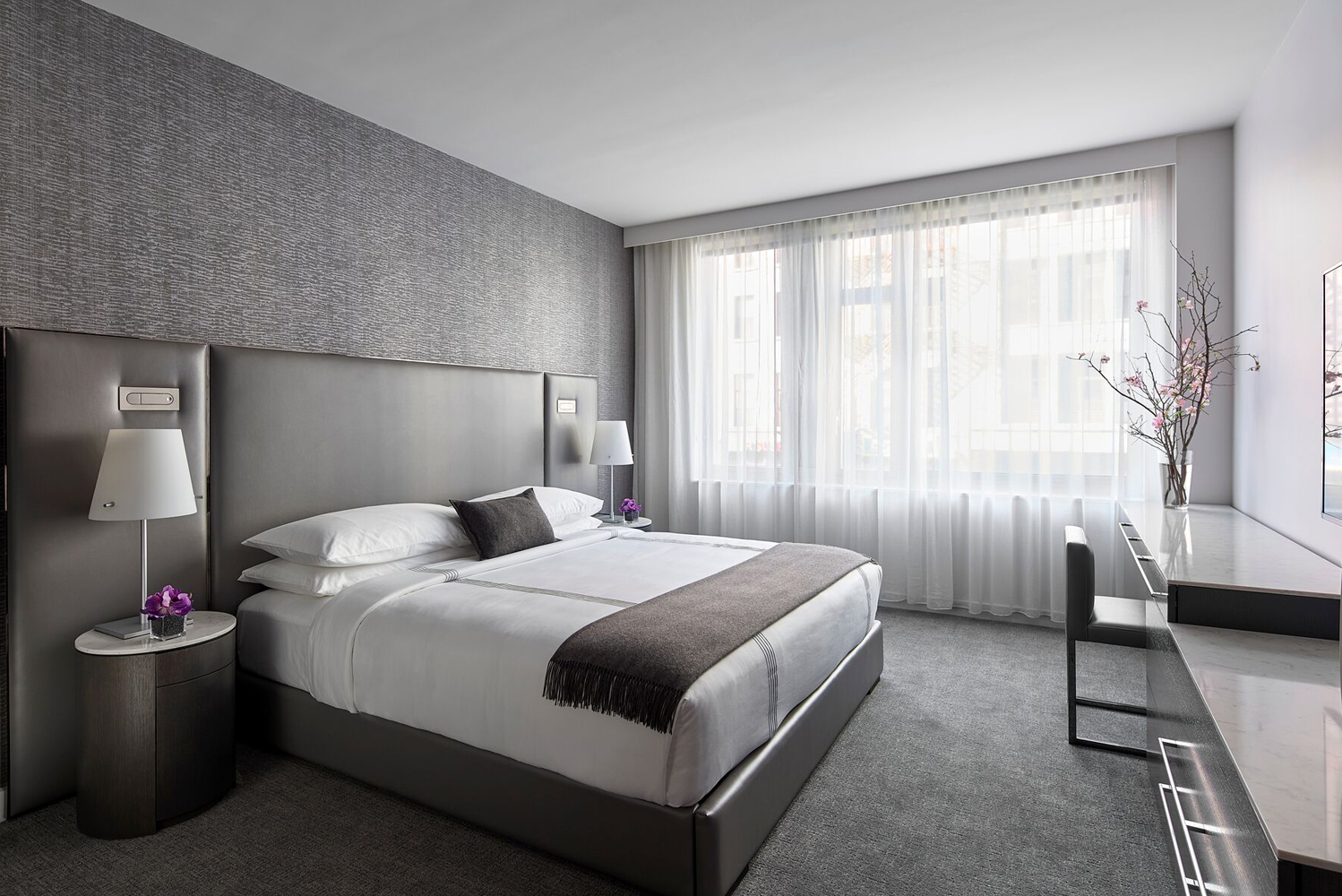 AKA Tribeca has 100 guestrooms with king beds and residential-style, walk-in showers and large closets.