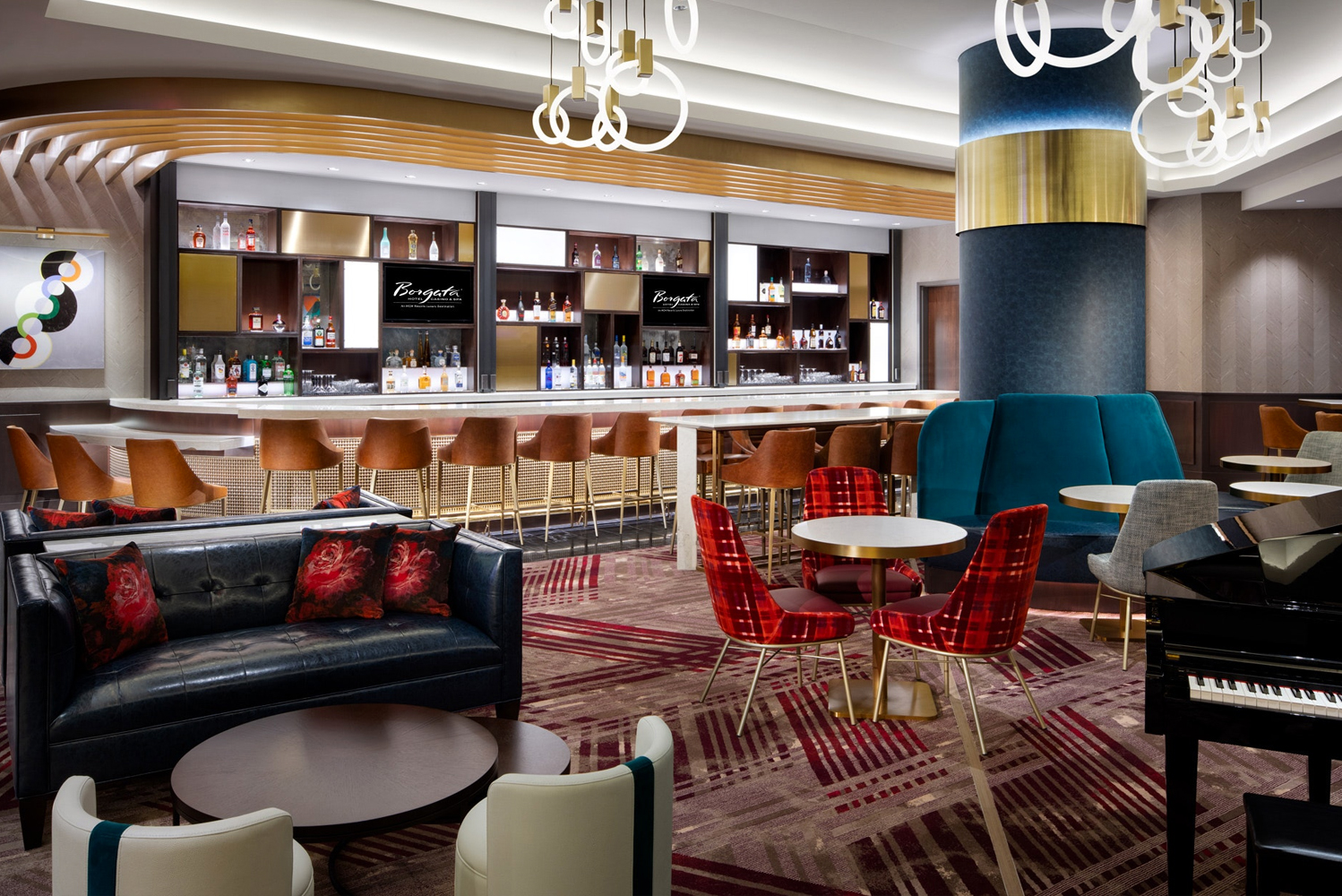 Scheduled for completion this September, the all-new lobby bar and complementary VIP check-in will see the addition of three large-screen televisions, coffee service and a curated new menu. Photo credit: Avenue Design