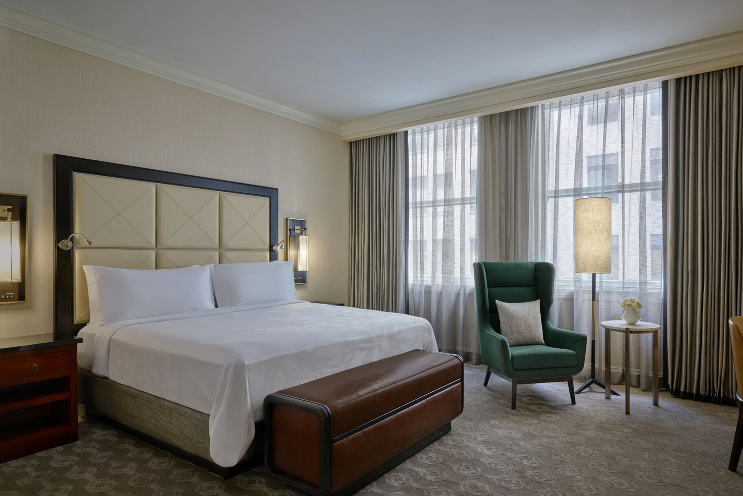 JW Marriott Chicago is redesigning all of its 610 guestrooms (including 29 suites), hotel corridors, and the executive lounge.