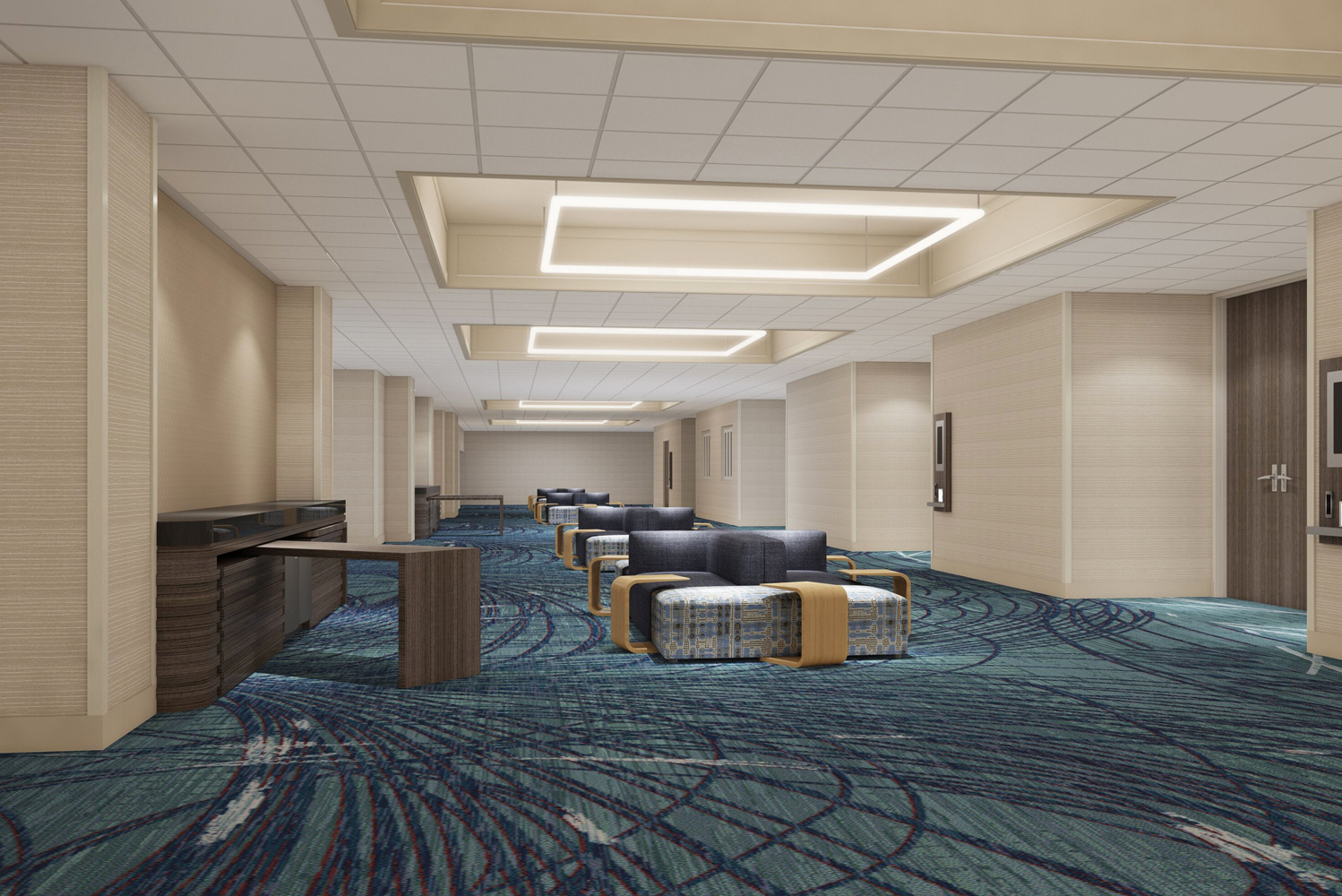 The LAX Marriott's redesigned ballrooms and pre-function spaces have California-inspired design. The property has over 29 meeting rooms, including the 12,320 square-foot Marquis Ballroom.