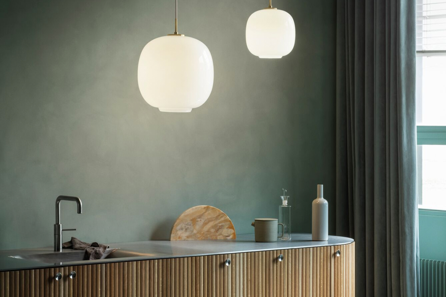 LED technology was integrated into PH Snowball, VL45 and Patera, among other pendants in the same size category.