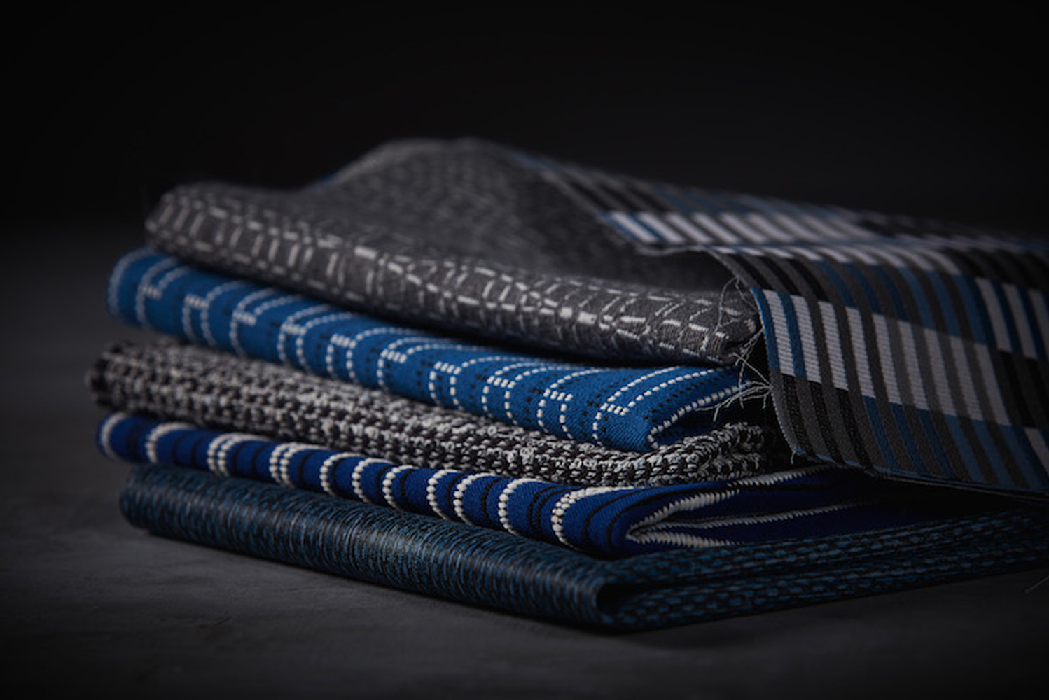 The collection includes Ethos, a geometric pattern inspired by Bauhaus; and Fuse, a linear ode to modernism.