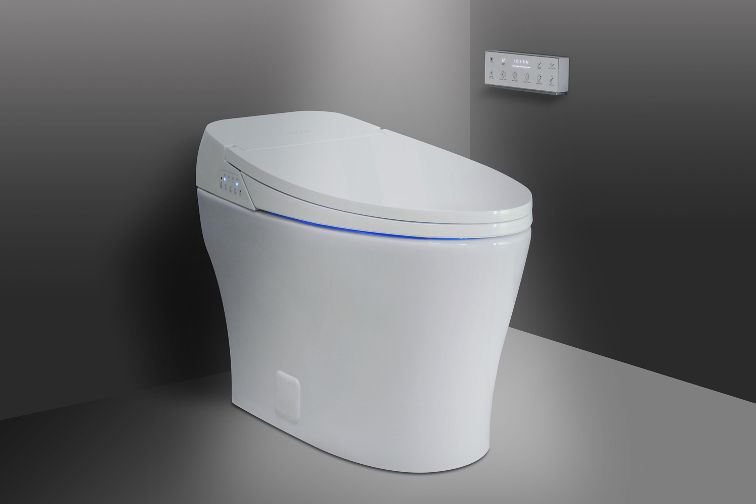 The Muse iWash system conserves floor space with its smart two-in-one design.
