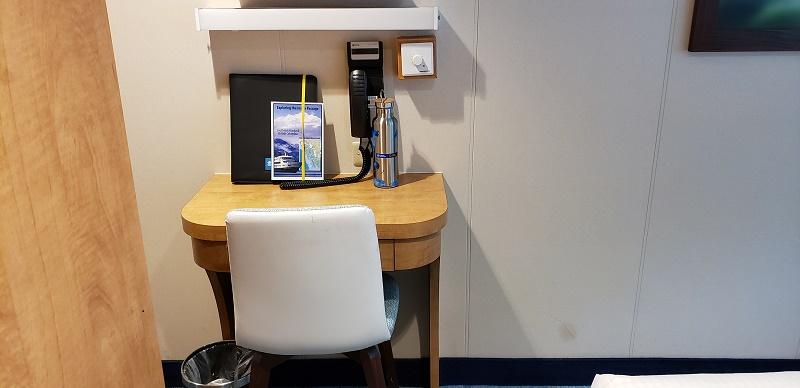 Small desk and chair, Cabin No. 204